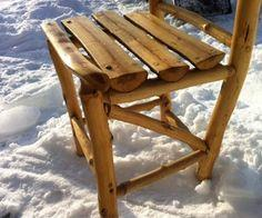 Build a rustic wood chair