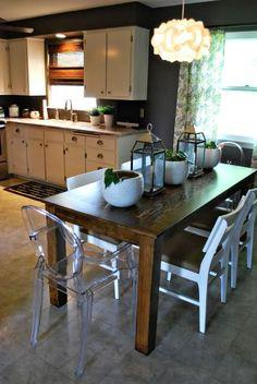 DIY Modified Modern Farmhouse Table Plans {Lots Of Them}