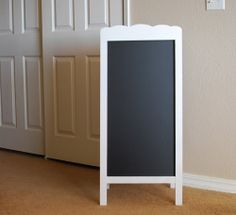 Scalloped Chalkboard Easel