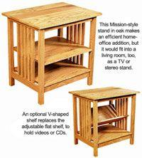 Charming How To Build A Mission Style Utility Stand
