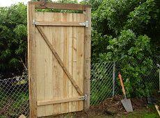 A basic fence gate