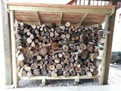 Firewood Shed using Posts