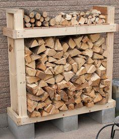 Build a firewood rack