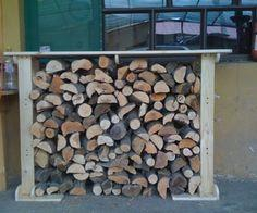 Wooden rack for firewood