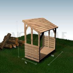 Wood shelter - woodworking plan