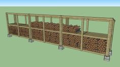 Firewood Log Storage plans