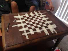 Chessboard Out Of Old Table