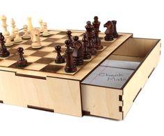 Secret Compartment Chess Set