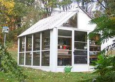 Greenhouse from storm doors