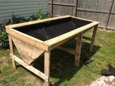 Raised Planter Bed from Pallets