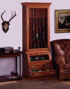 Display Cabinet For Firearms