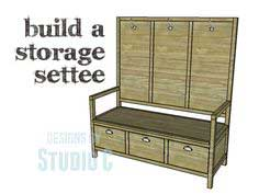 DIY Plans to Build a Storage Settee