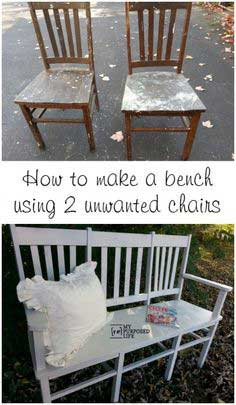 Repurposed Chair Bench