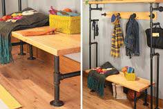 Bench & Coat Rack from Pipes