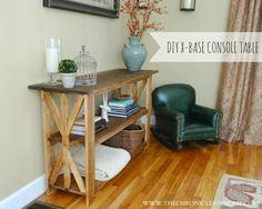 {Tutorial} Rustic X Base Console Table
