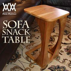 Make a sofa snack table for your living room