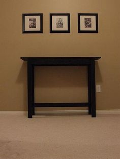 SIMPLE, CHEAP AND EASY CONSOLE TABLE