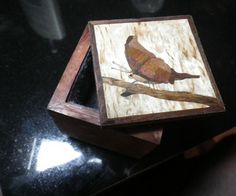 Jewelry Box with Marquetry Lid