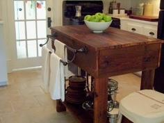 Build a Rustic Kitchen Table Island