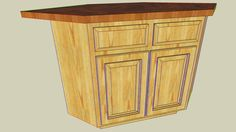 Angled kitchen island plans