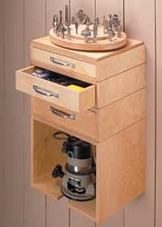 Storage with Lazy Susan on top