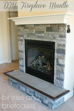 How to Build a Floating Fireplace Mantle
