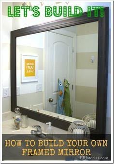 How to Build Your Own Mirror Frame–the easy way!