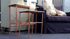 Copper Pipe Nesting Tables