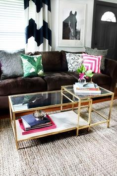 IKEA COFFEE TABLE MAKEOVER + FAB RUG REVIEW