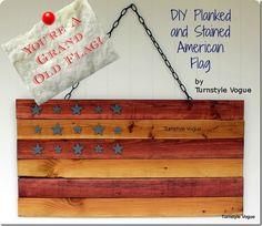 DIY: Stained & Planked American Flag