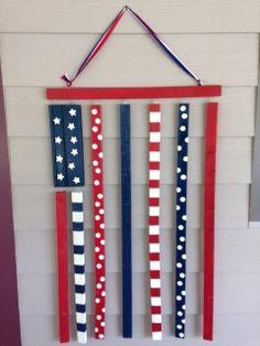 Patriotic wooden flag