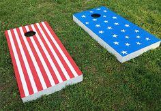 Patriotic Cornhole Boards