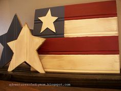 Bead Board Flag & Stars