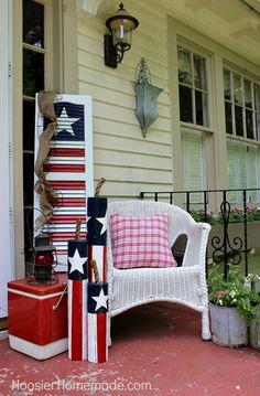 Old Shutter into 4th of July Decoration