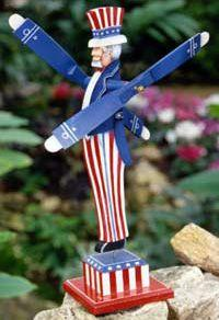 Uncle Sam Outdoor Whirligig