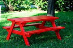 HOW TO BUILD AN ADULT PICNIC TABLE