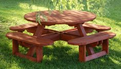 FREE PLANS ROUND WOOD PICNIC TABLE