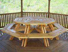 Re Octagonal Picnic Table Plans