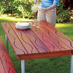 A table that makes waves