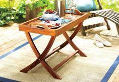 Serve guests outdoors with a folding table