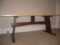 Cheap, easy, low-waste trestle table plans