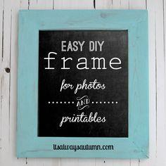 DIY wood frame for photos