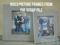 Picture Frames from the Scrap Pile