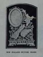 Wooden mirror with New Zealand