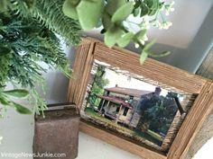 DIY barn wood frame