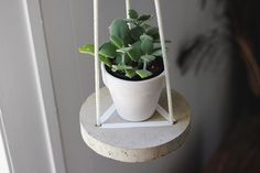 DIY Hanging Cement Table