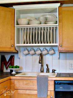 Upgrade Kitchen Cabinets: Build a Custom Plate Rack