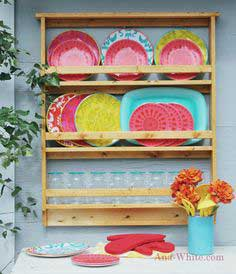 Build a Outdoor Dish / Plate Rack | Free and Easy DIY Project and Furniture Plans