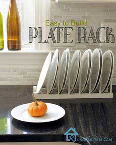Easy to Build Plate Rack