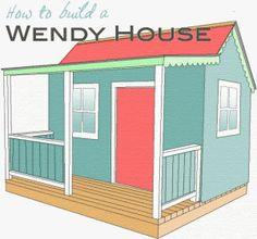 85 playhouse plans for Building a wendy house from pallets